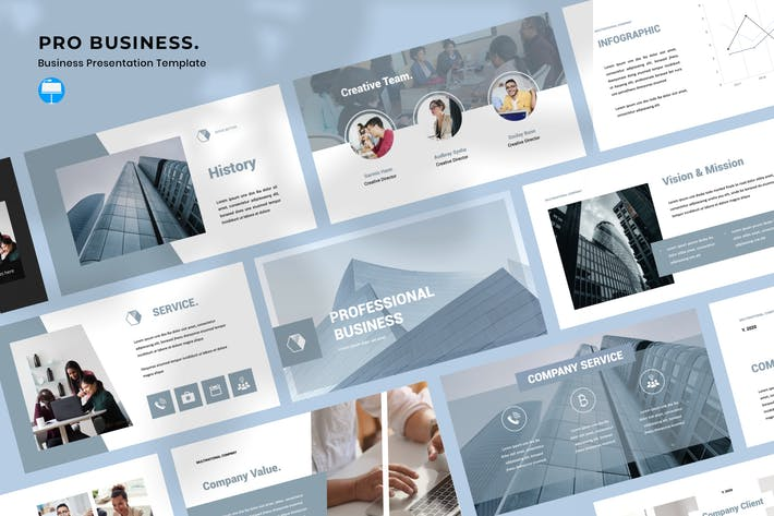 Thumbnail for Pro Business Keynote Template