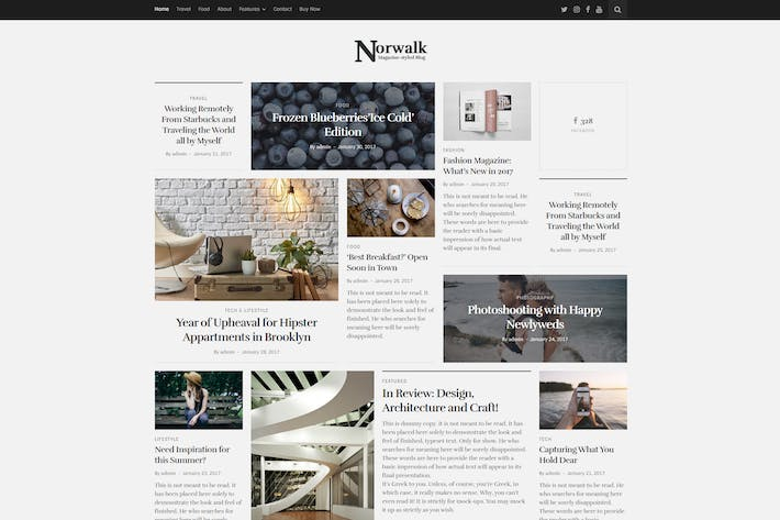 Thumbnail for Norwalk – Magazine-Styled Blog WordPress Theme