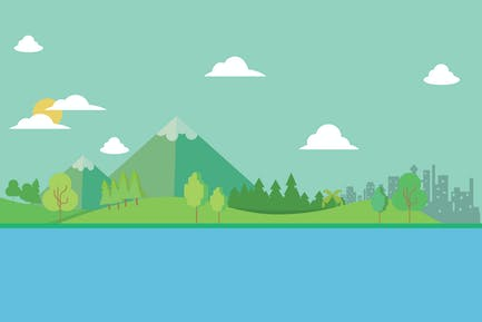 Landscape - Illustration Background