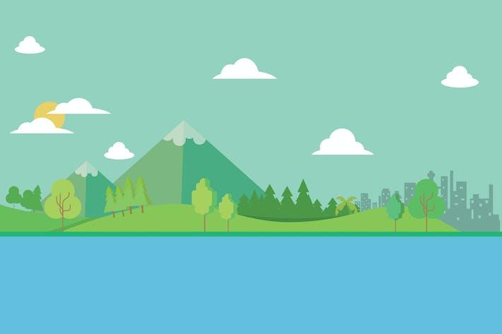 Thumbnail for Landscape - Illustration Background
