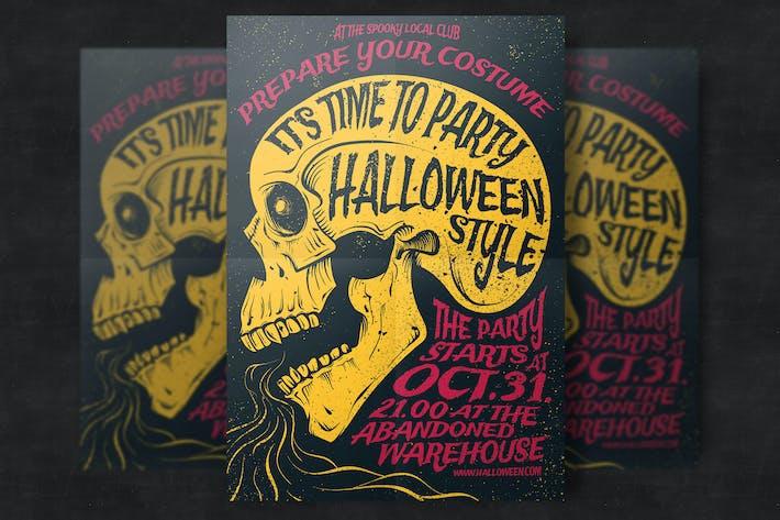 Thumbnail for Modèle de dépliant de fête d'Halloween