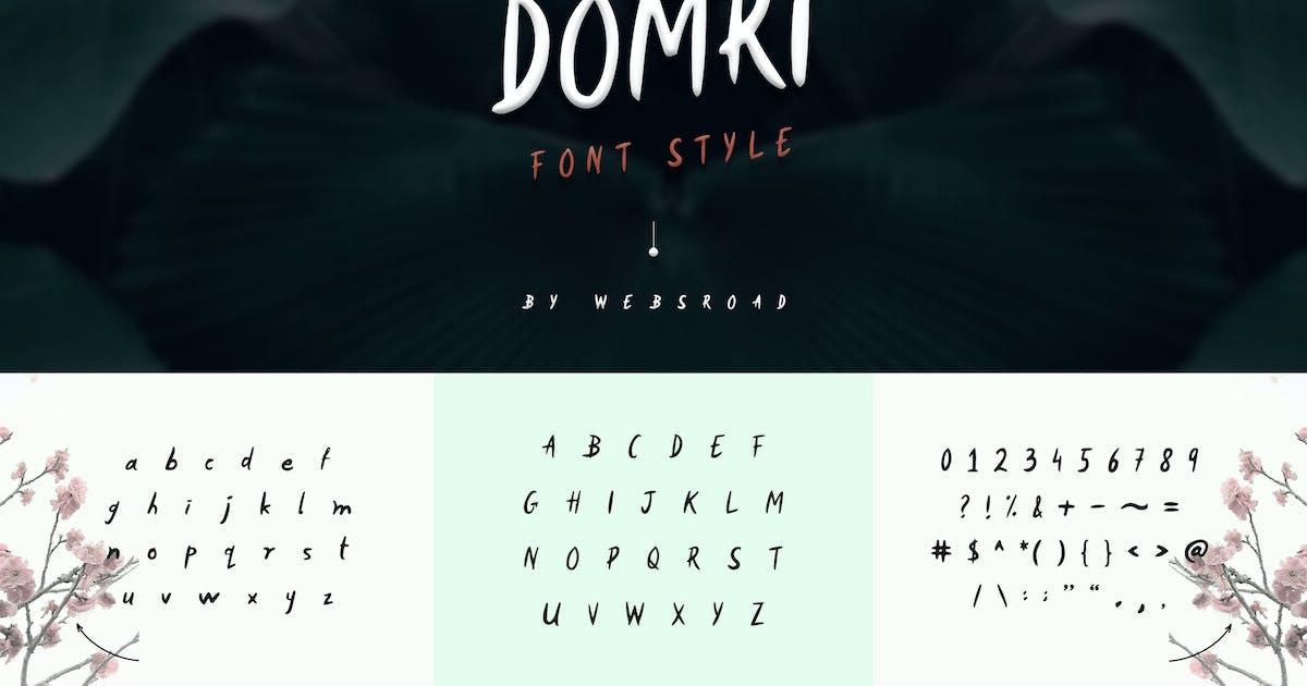 Download Domri - Fresh Handwritten Font Style by websroad