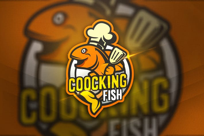 Thumbnail for Coocking Fish - Mascot & Sport Logo