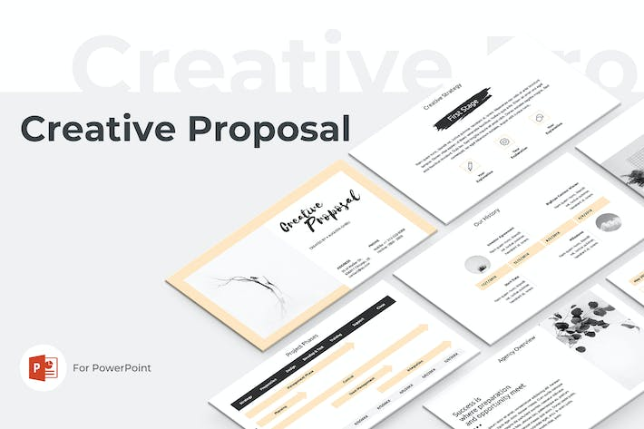 Cover Image For Creative Proposal PowerPoint Template