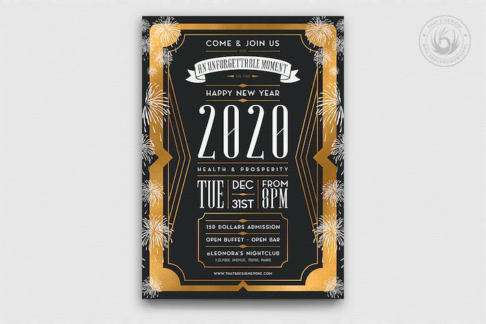Thumbnail for New Year Flyer Template V8