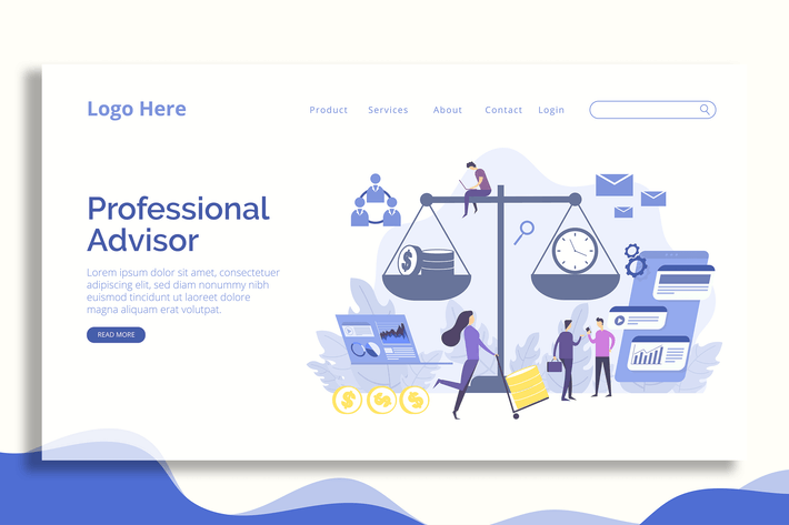 Thumbnail for FInance Consultant - Landing Page
