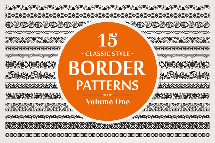 Cover Image For 15 Vector Border Patterns Classic Style Volume 1