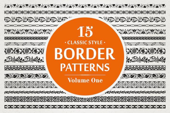 15 Vektor rahmen Muster Klassischer Stil Band 1
