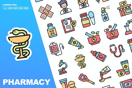 Pharmacy Color Icons