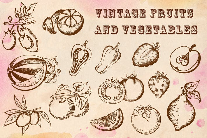 Thumbnail for Vintage Fruits and Vegetables