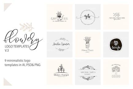 Modèles de Logo floral V.3