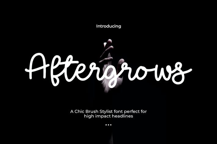 Thumbnail for Aftergrows - Handletter Font