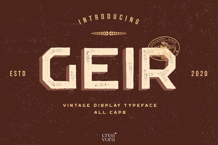 GEIR - Fuente de visualización vintage