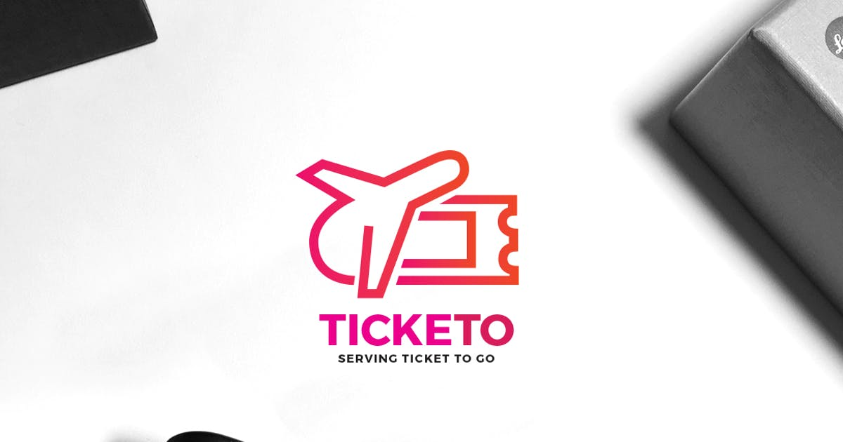 Download Travel Ticket Logo by VisualColony