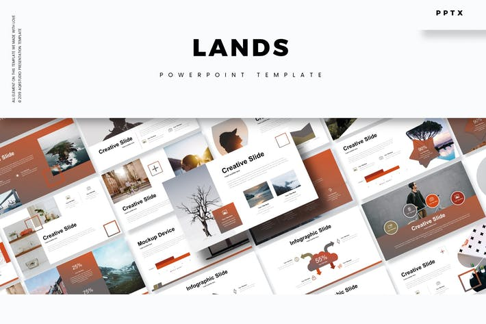 Thumbnail for Lands - Powerpoint Template