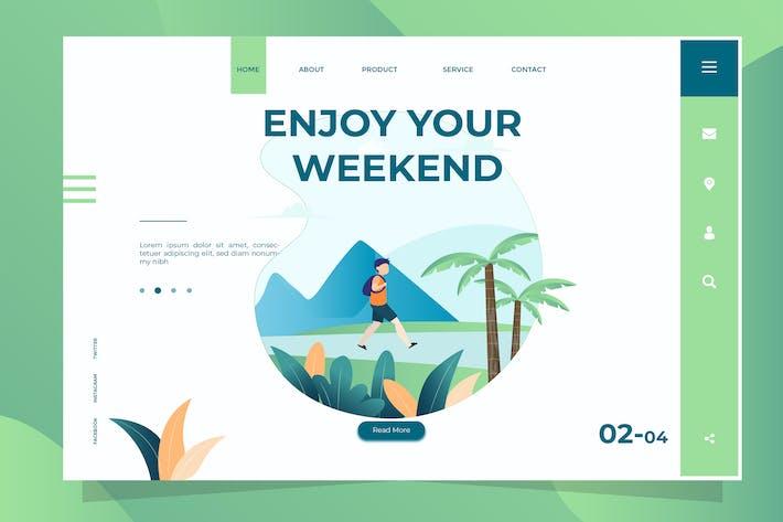 Thumbnail for Enjoy Weekend - Banner & Landing Page