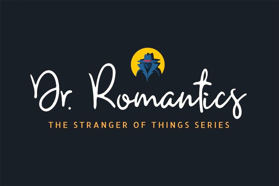 Romantics - Handwritten script Font