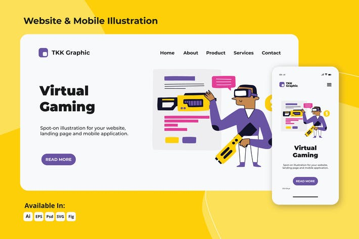 Thumbnail for Virtual Gaming web and mobile designs