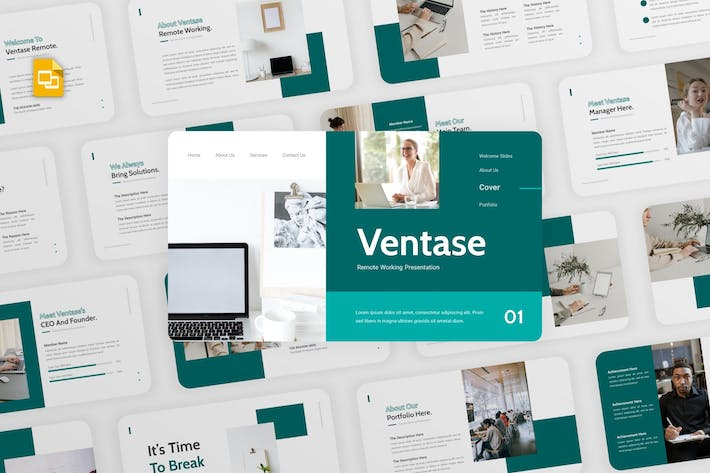 Thumbnail for Ventase - Remote Working Google Slides Template
