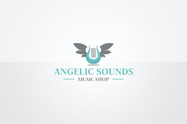 Harp Logo Template