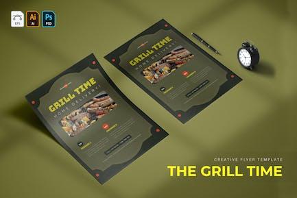 Grillzeit | Flyer