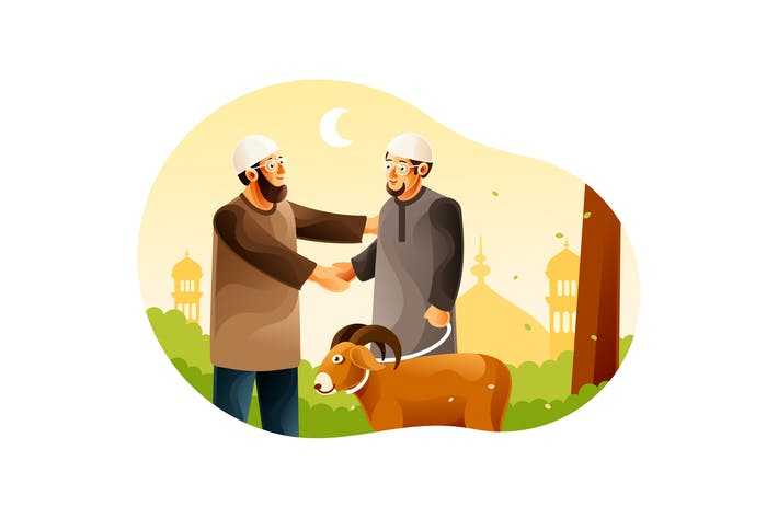 Thumbnail for Muslims give goats for Eid al-Adha