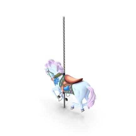 Carousel Galloping Horse Pink