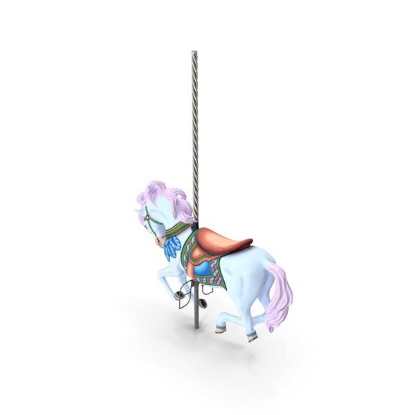 Thumbnail for Carousel Galloping Horse Pink