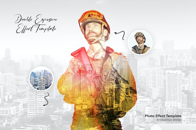 Double Exposure Photo Effect Template