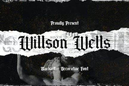 Wilson Wells - Letra Negra
