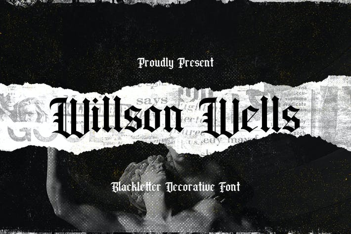 Thumbnail for Wilson Wells - Blackletter Font