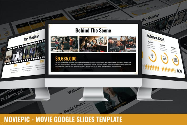 Thumbnail for Moviepic - Movie Google Slides Template