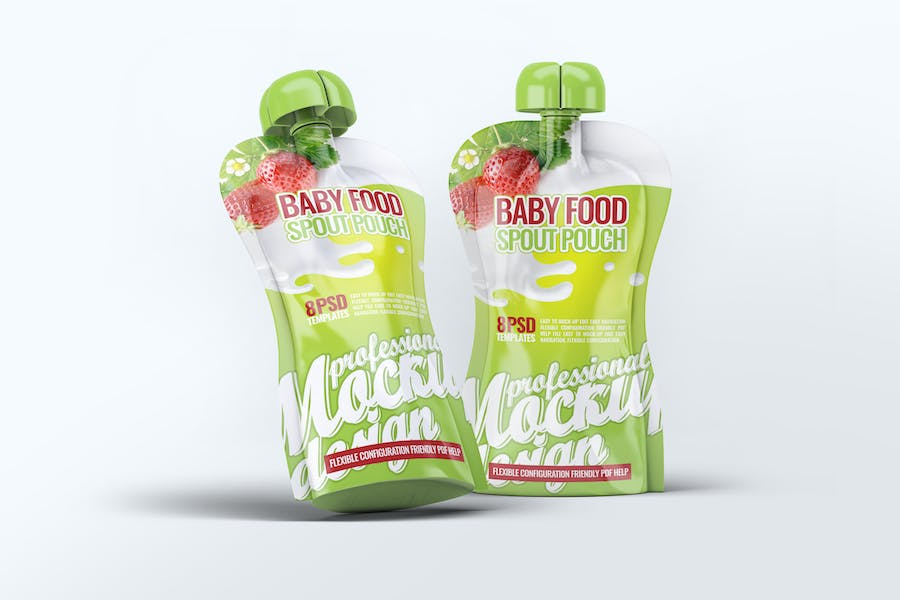 Baby Food Spout Pouch Mock-Up