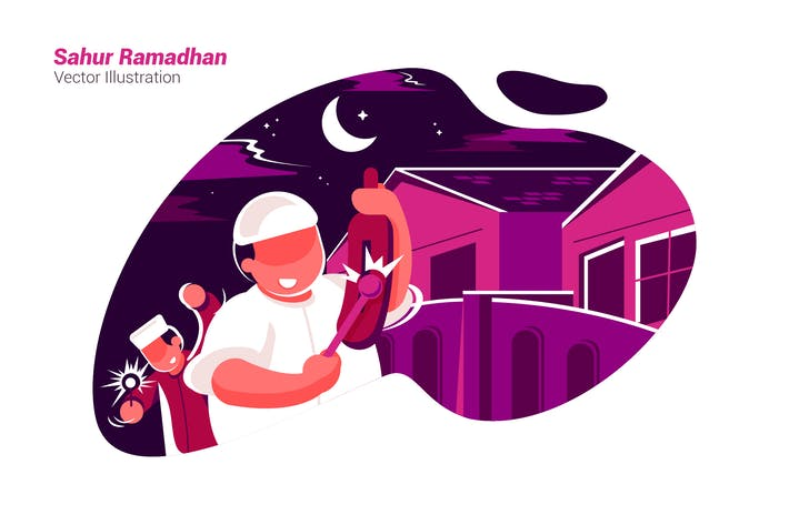 Thumbnail for Sahur Ramadhan - Vector Illustration