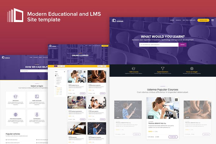 Download 11 training website templates envato elements thumbnail for udema modern educational site template maxwellsz