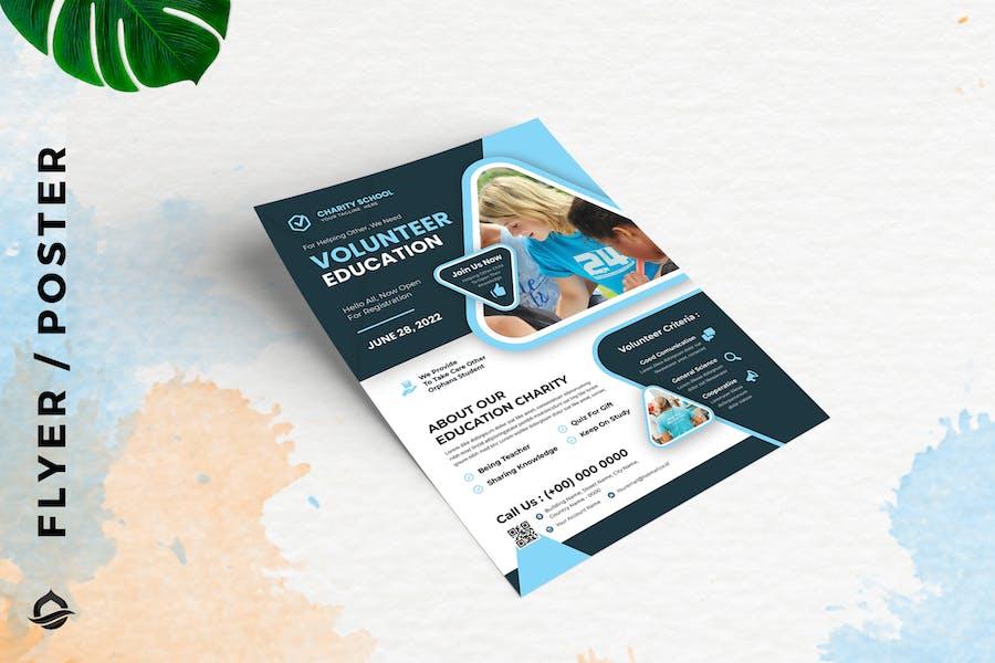 Charity Volunteer education Flyer / Poster