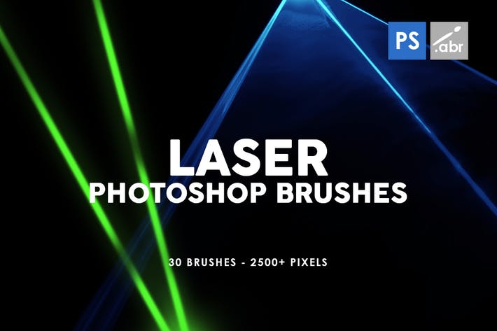 Thumbnail for 30 Laser Photoshop Stamp Brushes