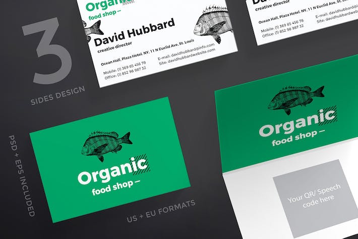 Organic food business card template by ambergraphics on envato elements cover image for organic food business card template flashek Gallery