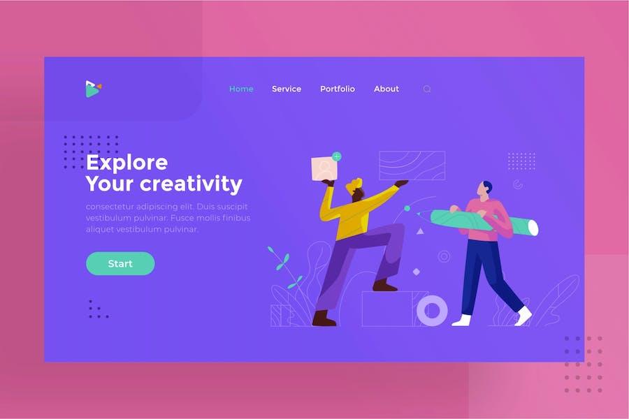 Team work illustration for website 1.5