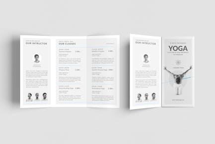 Yoga-Kurse Broschüre