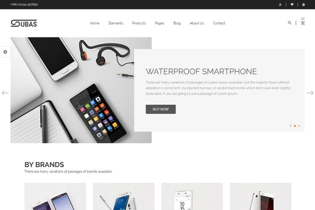 Subas – Electronics eCommerce Bootstrap Template