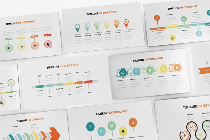 Thumbnail for Timeline Infographic Keynote Template