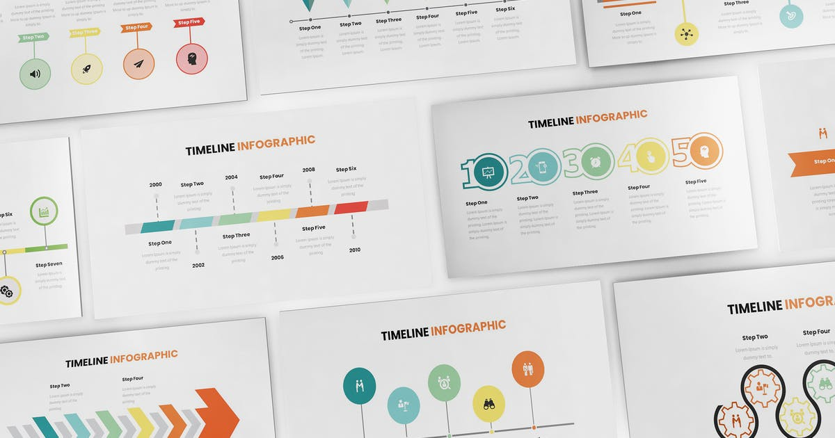Download Timeline Infographic Keynote Template by Formatika