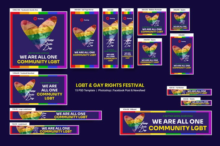 LGBT & Gay Rights Festival Banners Ad