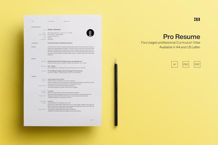Thumbnail for Pro Resume Template