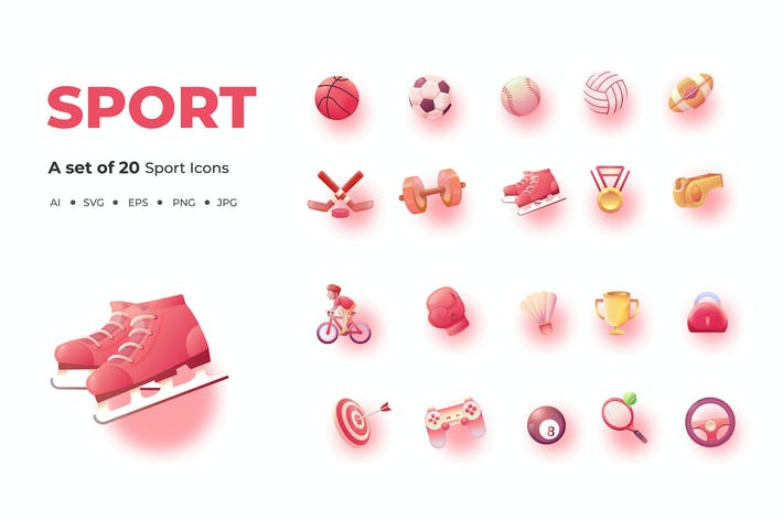 Thumbnail for 20 Sport Icons