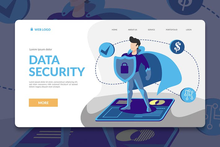 Thumbnail for Security Hero Landing Page Illustration