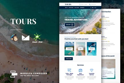 Tours - Book & Travel Responsive Email