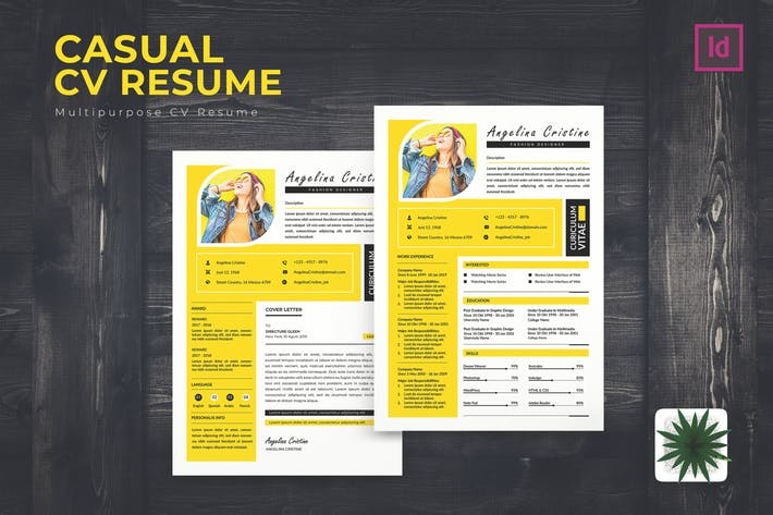Thumbnail for Cassual CV Resume Template