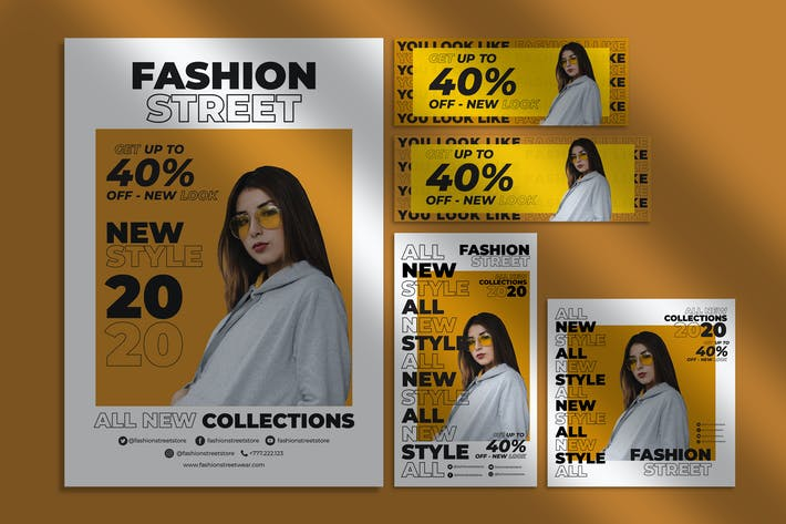 Thumbnail for Fashion Flyer and Social Media Pack Template